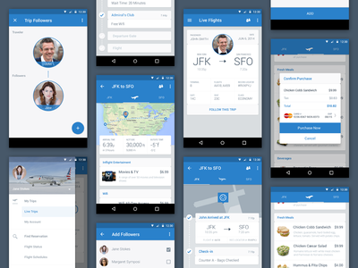 American airlines tiles by joshua butler dribbble for Tile layout app