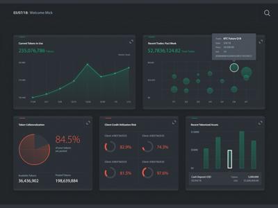 Data Visualization Tiles chart token blockchain dashboard visualization data