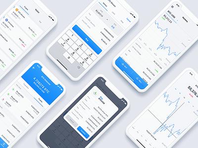 Apex Mobile Dribbble mobile exchange cryptocurrency crypto blockchain
