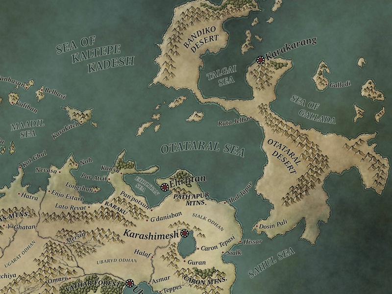Cartography Snippet malazan fantasy rpg cartography map