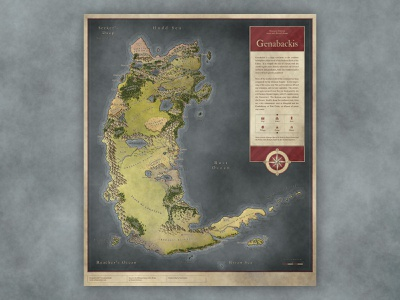 Genabackis Malazan Map map fantasy