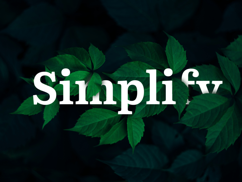 Simplify webdesign project product design leaf green nature simplify adobe photoshop vector typography ux branding ui product icon design classroom classic addobe