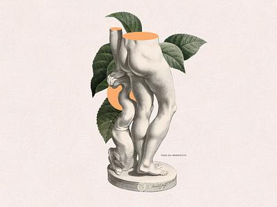 Todo es imperfecto body plants illustration collage