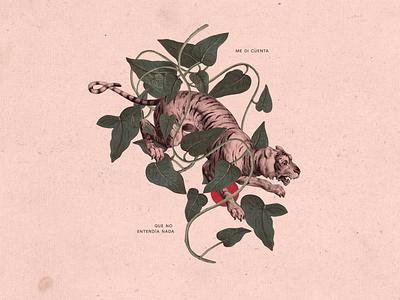 Me di cuenta que no entendía nada animals plants illustration collage
