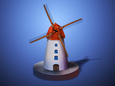 Turning Windmill rotation motion after effects adobe illustrator illustration animation windmill