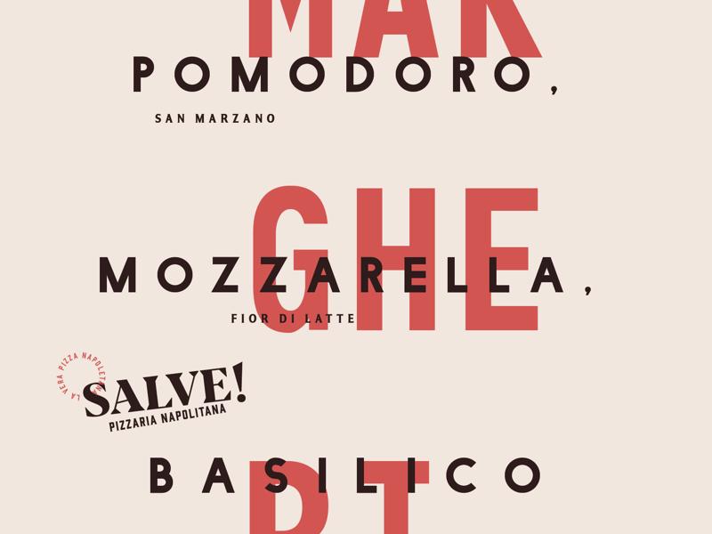 Posters for Salve! Pizzeria Napoletana recipe pizza poster typography vintage logo design branding