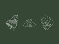 Illustrations for restaurant branding