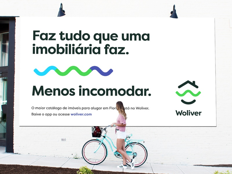 Woliver – Billboard billboard design finder chat smart home rental renting bold typography print startup logo design branding advertising billboard