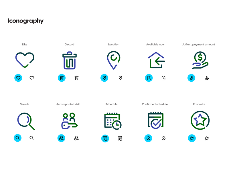 Woliver – Iconography rent home startup digital brand guidelines icon family iconography stroke interface branding icons pack icon design iconset icons