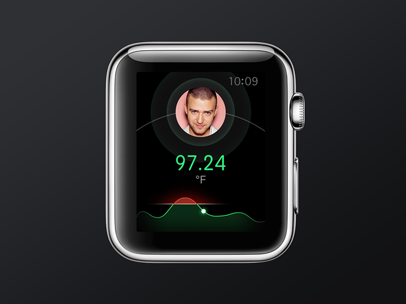 Temperature Apple Watch concept temperature apple watch iwatch concept