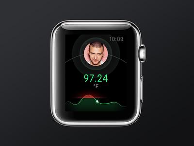 Temperature Apple Watch concept