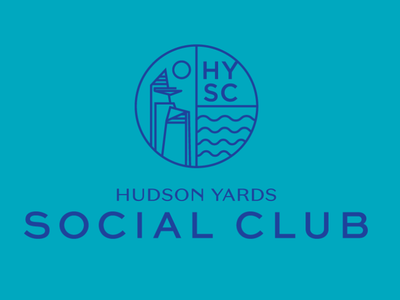 Hudson Yards Social Club Logo Expolration typography logo branding design