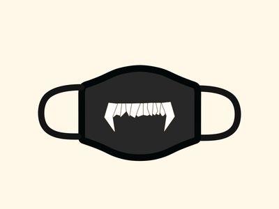 Bear Tooth Mask stayhome staysafe playoffs covid coronavirus covid19 dribbble tooth bear face mask facemask