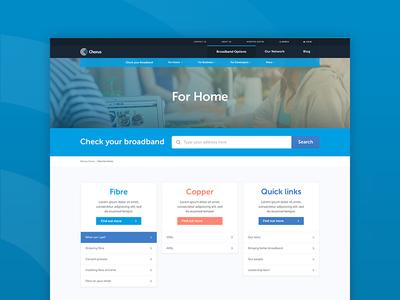 Chorus Website Redesign interface design ui web design digital design design new zealand redesign chorus