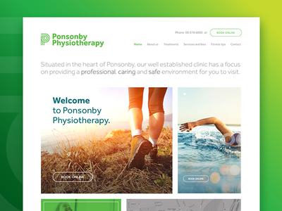 Ponsonby Physiotherapy Rebrand interface visual brand branding ui interface design digital design design physio ponsonby redesign rebrand