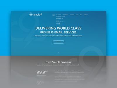 Cumulo9 Redesign cloud minimal modern branding visual design digital design digital interface design interface ui rebrand redesign