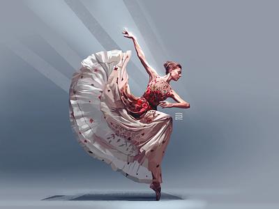 Ballet Dancer digital painting vector illustration illustraion illustration digital illustration illustrator illustrations illustration art