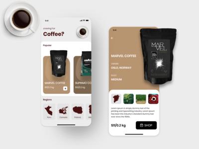 Coffee selling app coffeeshop uiux ux ui
