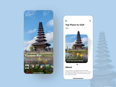 Explore the world at your fingertips tours and travel travel app travel service tourism app tour app dribbble shots explore bali explorer word worldtour uxdesign uidesign