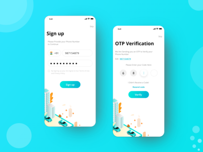 OPT Verification Concept booking taxi app login design login screen login form login page login verify security verification otp mobile apps ui design appdesign uxdesign ux