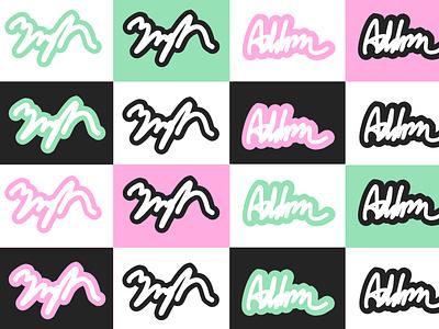 Mint Signatures mint green signature font signature