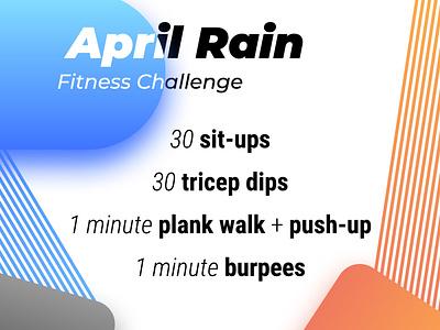 Workout Invite fun modern bright orange blue invite workout