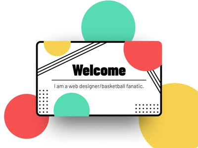 Welcome Page minimalism website web design welcome