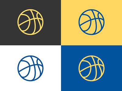 Basketball Logo Pallete palette branding design basketball logo basketball icon colors grey yellow blue logo