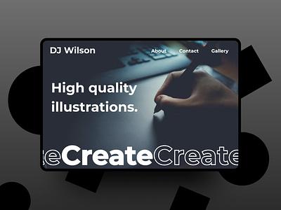 Minimalist Portfolio concept design black  white black dark website design web concept webdesign web website minimalistic portfolio minimalist minimal