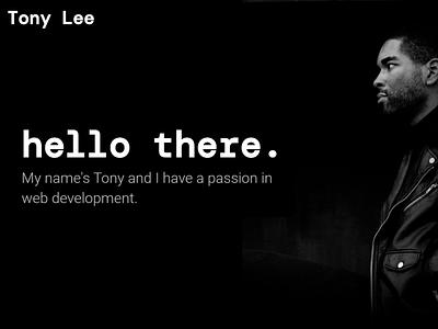Dark Portfolio website design web portfolio design portfolio page person black minimal portfolio webdesign website dark