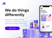 Modern App Design application hero website concept website design modern design city white webdesign website web landing page mobile design mobile app design app modern
