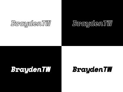 BraydenTW Logo Design typogaphy figma braydentw white blackandwhite black  white black logodesign logo