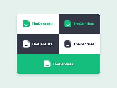 The Dentista - Logo Design dentists blur simple modern white green logodesign logo dentistry dental dentist logo dentist