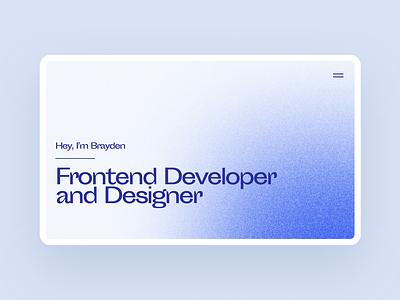Luxury, Blue Portfolio website design white blue design modern web designer web design developer portfolio developer webdesign website portfolio site portfolio