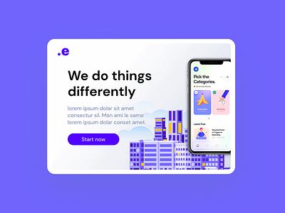 Modern App Design colorful design website design simple modern purple app webdesign website