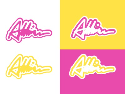 Pink and Yellow Signature