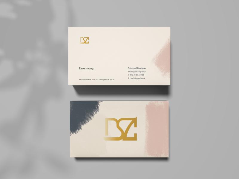Business Card Design for Interior Designer pattern design logo identity design design branding