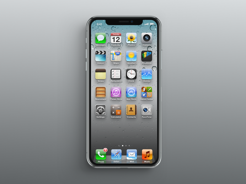iphone x with ios 6 by michael zhang
