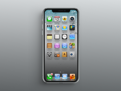 iPhone X with iOS 6 ui ios6 iphonex iphone