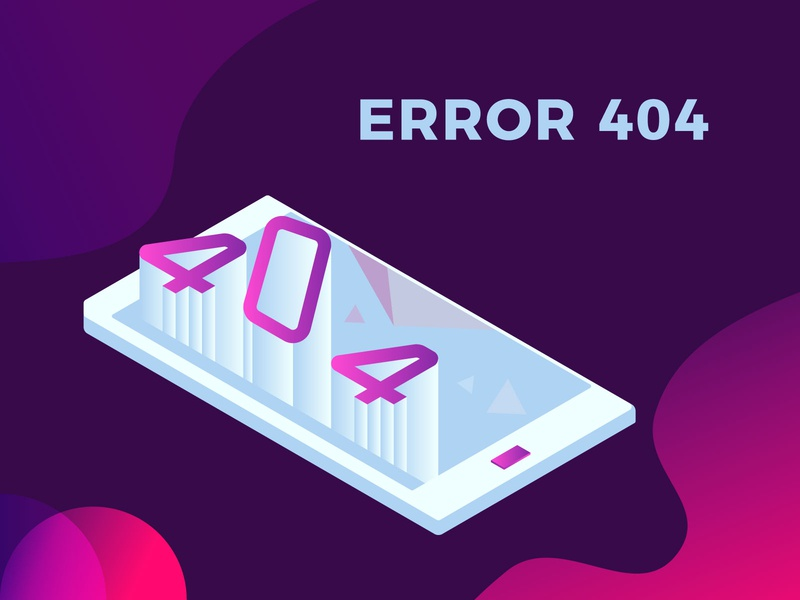 Isometric Error 404 digital illustration branding illustration 3d art vector flat design error page 404 page 404