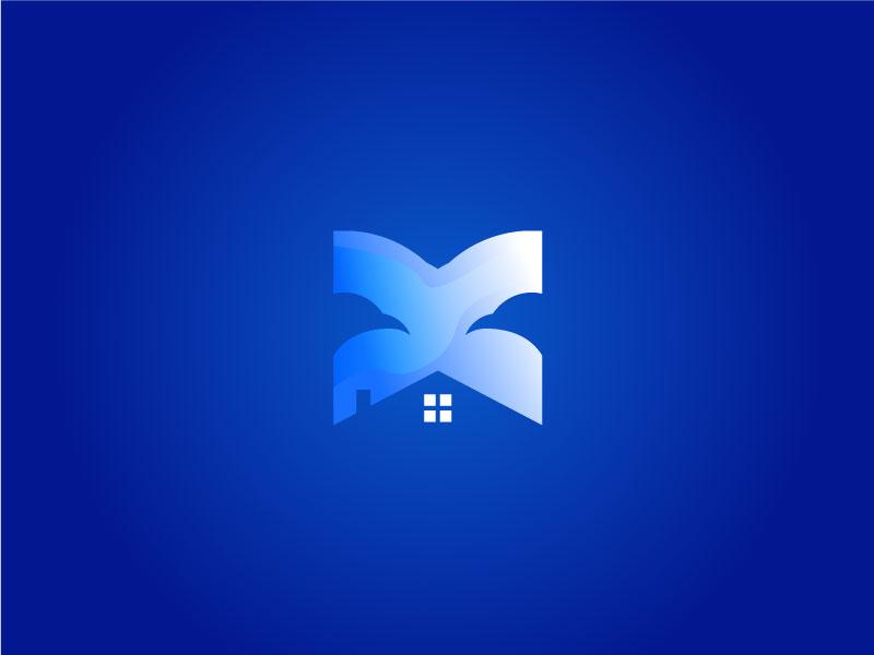 Letter X  logo app icon ux typography design ui branding eagle x logo eye logo eagle logo