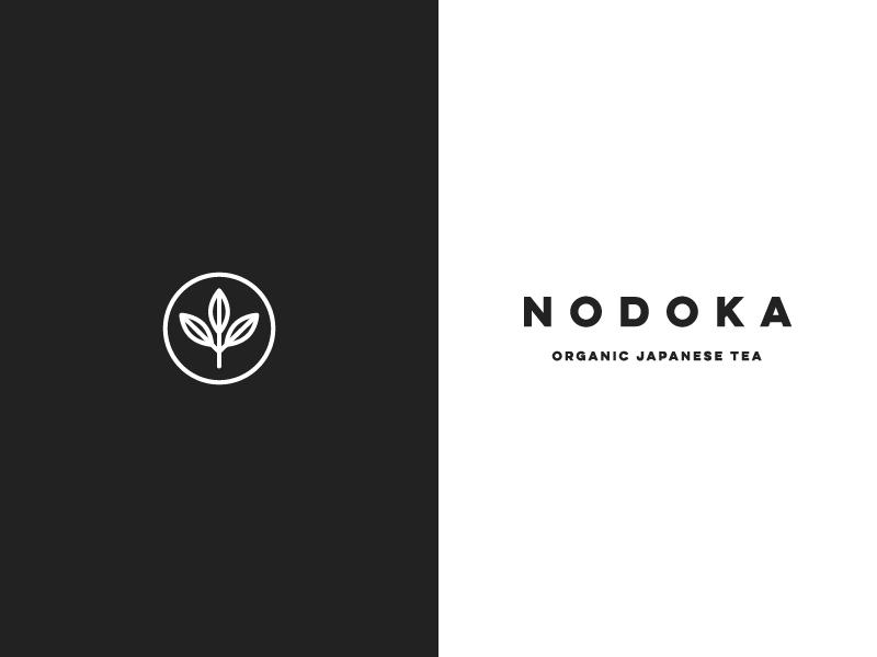 Nodoka - Logo tea leaves illustration japan organic japanese tea tea nodoka