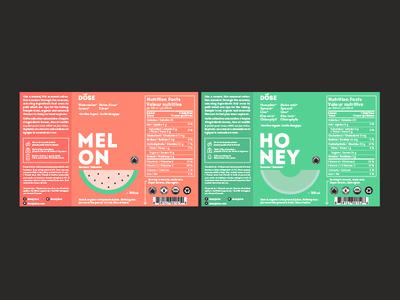 Dose: Seasonal Labels colorful juice dose fruits illustration cold pressed juice label