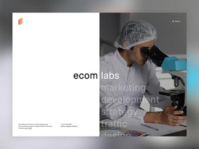 Ecomlabs Website landing mockup website ecomlabs