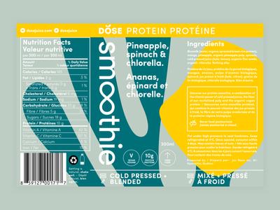 Dose Smoothie Line colourful shapes illustration cold pressed juice dose beverage juice branding packaging label smoothie