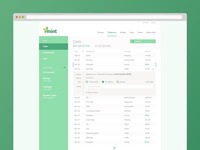 Mint Web Interface Refresh mint interface green finances