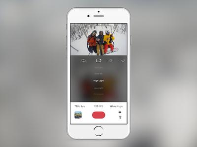 GoPro iOS Redesign gopro ios camera hero4 hero3