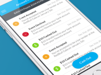 Mobile View for Event Managing App