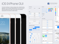 Facebook iOS 9 Sketch & PSD GUI