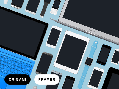 Facebook Devices Now in Origami and Framer free vector samsung apple iphone nexus device prototyping framer origami sketch download